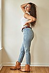 Thumbnail View 8: CRVY High-Rise Vintage Straight Jeans