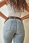 Thumbnail View 9: CRVY High-Rise Vintage Straight Jeans