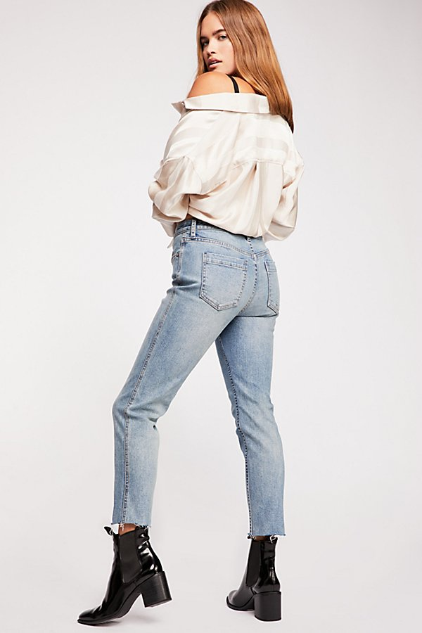 Slide View 1: CRVY High-Rise Vintage Straight Jeans