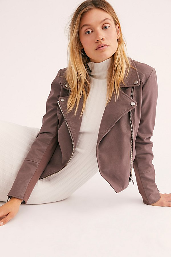 Slide View 1: Delilah Cropped Moto Jacket