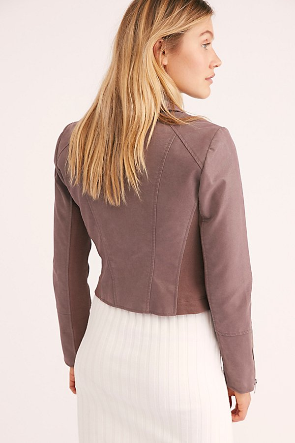 Slide View 3: Delilah Cropped Moto Jacket