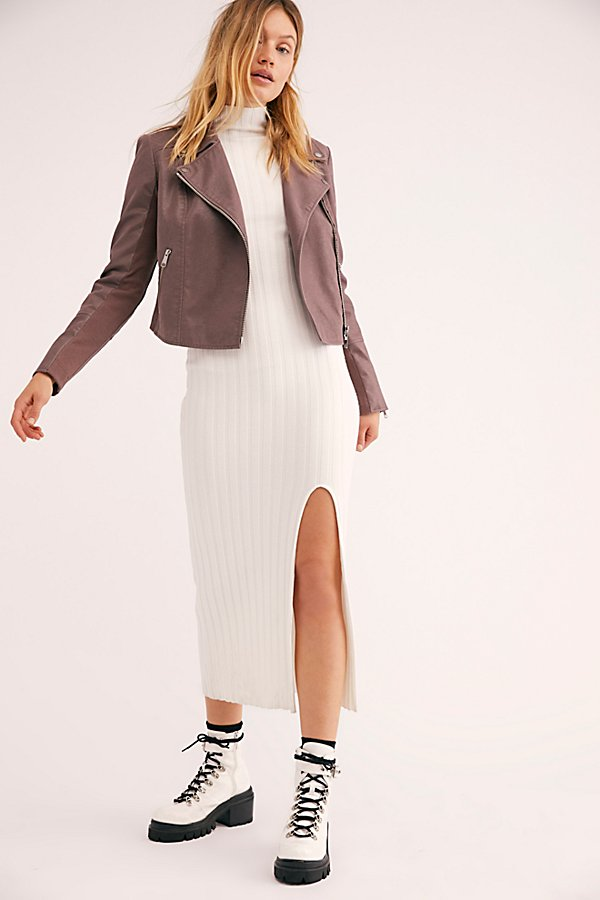 Slide View 4: Delilah Cropped Moto Jacket