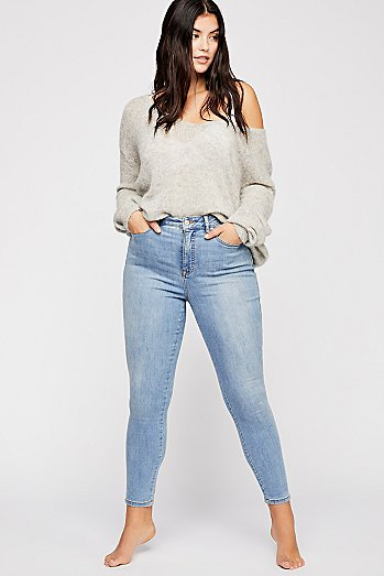 CRVY High-Rise Super Skinny Jeans