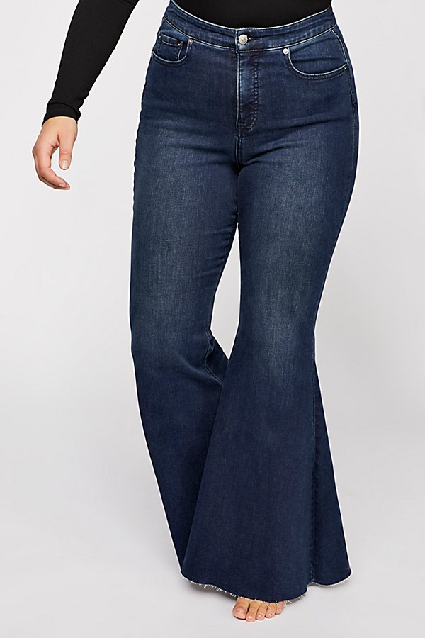 Slide View 10: CRVY Super High-Rise Lace-Up Flare Jeans