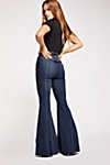 Thumbnail View 1: CRVY Super High-Rise Lace-Up Flare Jeans