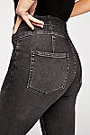 Thumbnail View 4: CRVY High-Rise Lace-Up Skinny Jeans