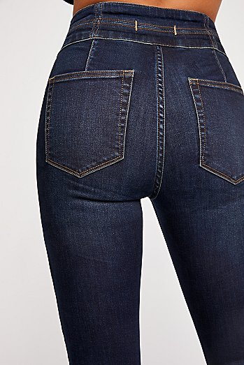 CRVY High-Rise Lace-Up Skinny Jeans