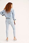 Thumbnail View 2: CRVY High-Rise Lace-Up Skinny Jeans