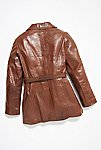 Thumbnail View 5: Vintage 1970s Leather Coat