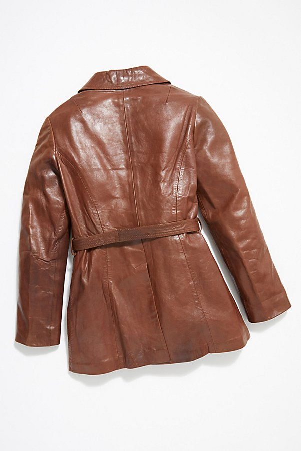 Slide View 5: Vintage 1970s Leather Coat