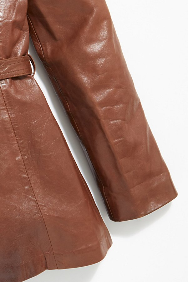 Slide View 6: Vintage 1970s Leather Coat