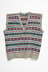 Thumbnail View 1: Vintage 1960s Fairisle Sweater Vest