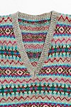 Thumbnail View 2: Vintage 1960s Fairisle Sweater Vest