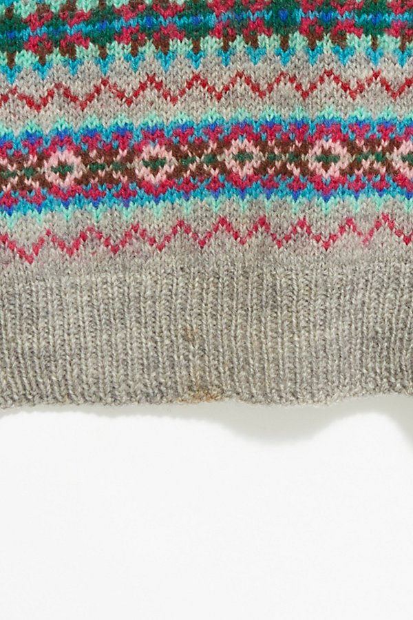Slide View 3: Vintage 1960s Fairisle Sweater Vest