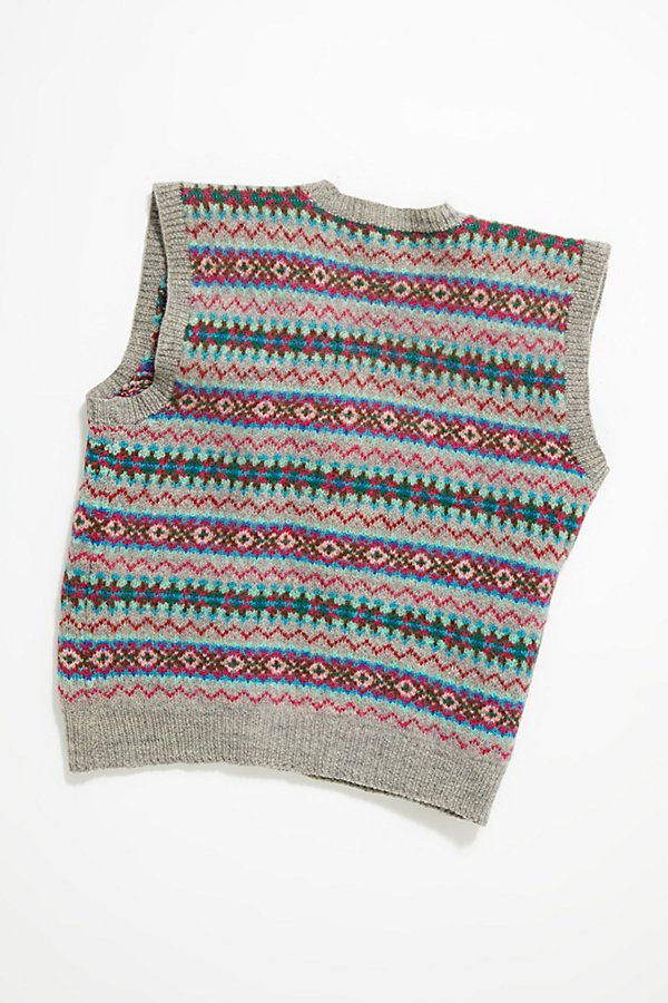 Slide View 4: Vintage 1960s Fairisle Sweater Vest