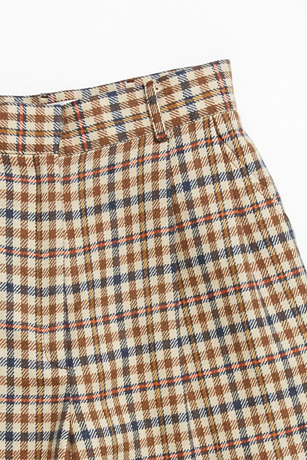 Slide View 2: Vintage '80s Plaid Wool Shorts