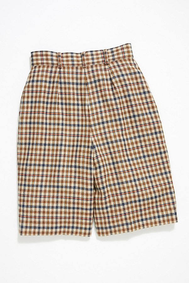 Slide View 3: Vintage '80s Plaid Wool Shorts
