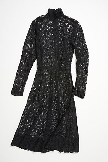 Vintage '70s Black Lace Dress