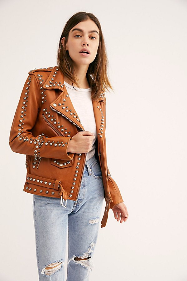 Slide View 2: Western Dome Studded Easy Rider Jacket