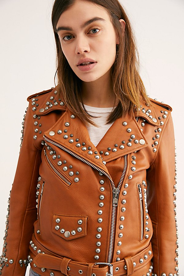 Slide View 4: Western Dome Studded Easy Rider Jacket