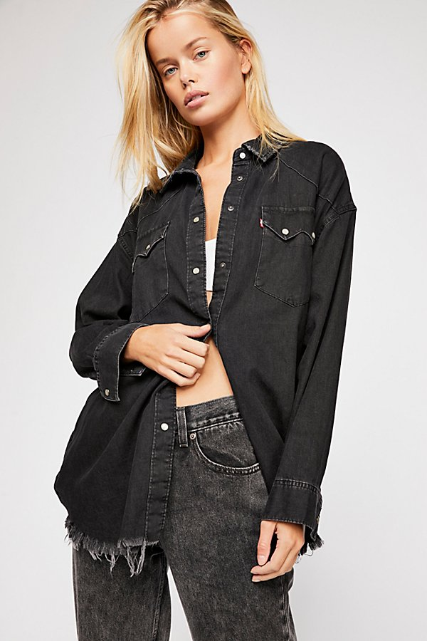 Slide View 1: Levi's Oversized Sawtooth Denim Shirt
