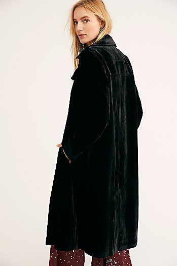 Bryant Velvet Trench Coat