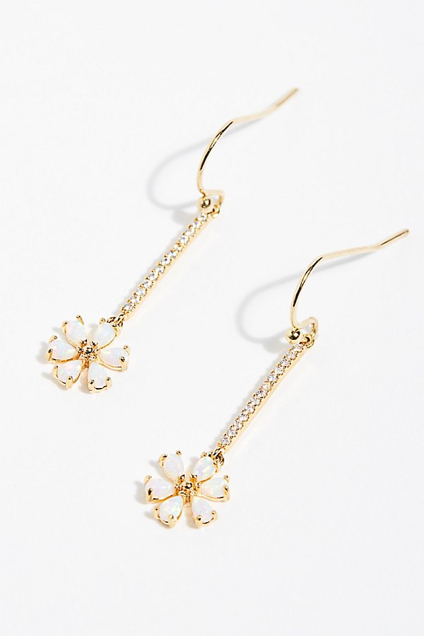 Slide View 2: Tai Daisy Drop Threader Earrings