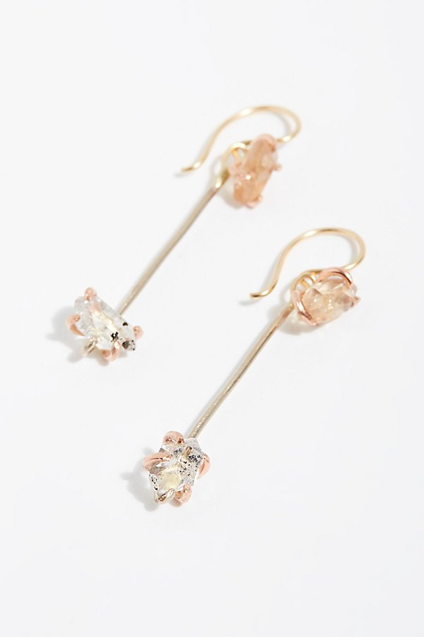 Slide View 1: Stone Drop Earrings With Topaz Hooks
