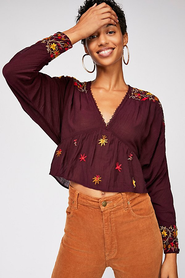 Slide View 1: Ava Embroidery Blouse