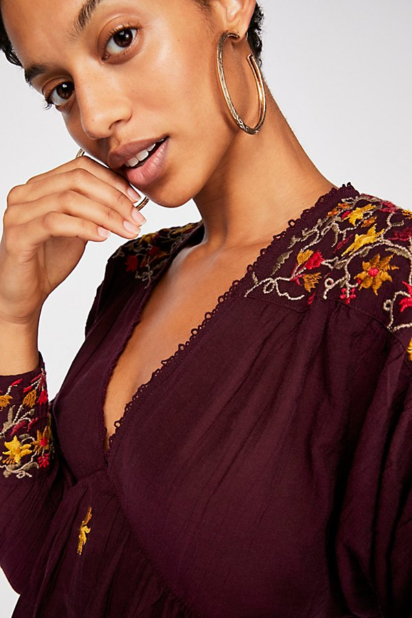 Slide View 3: Ava Embroidery Blouse