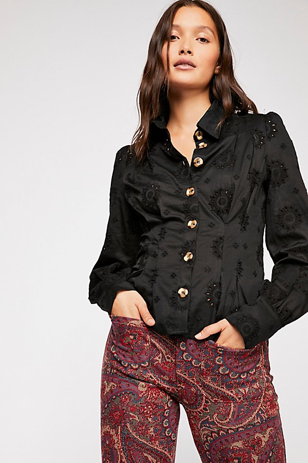 Slide View 1: Up In The Clouds Eyelet Buttondown