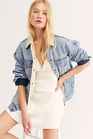 Baggy Sherpa Trucker Jacket by Free People