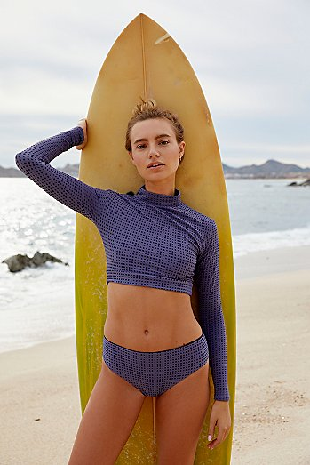 Textured Indo Swim Top