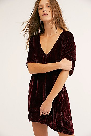 Crushed Velvet T-Shirt Dress