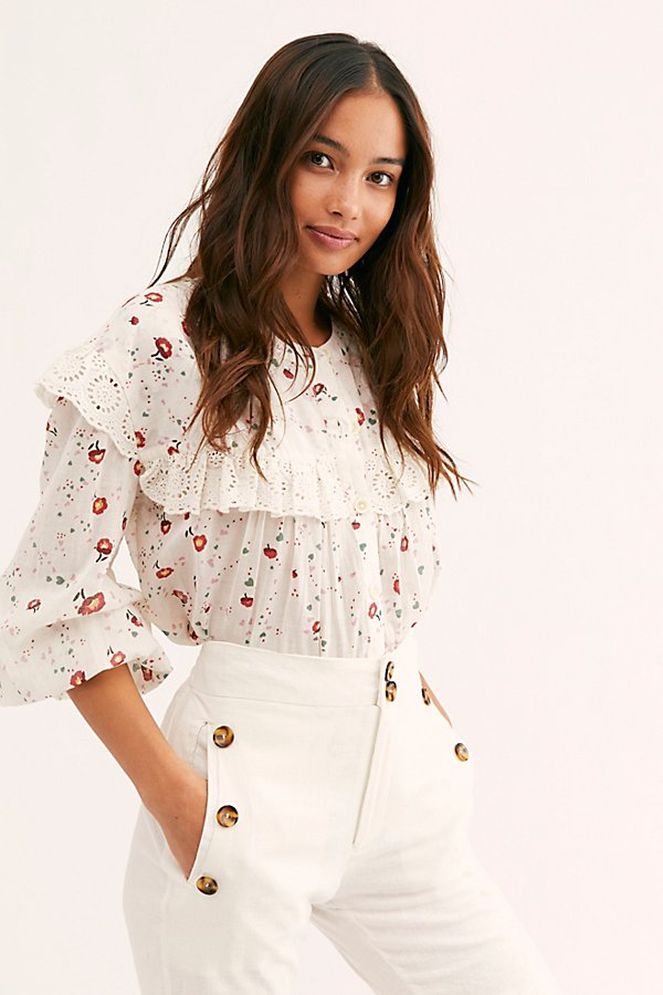 Slide View 1: Falling For You Printed Blouse