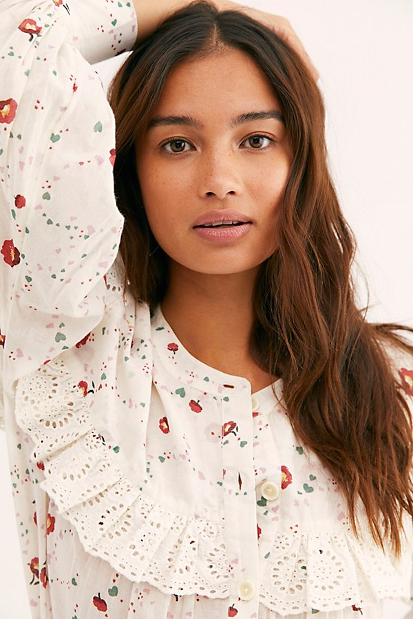 Slide View 3: Falling For You Printed Blouse