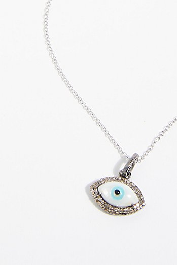 Double Diamond Eye Pendant