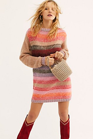 Bright It Up Sweater Mini Dress