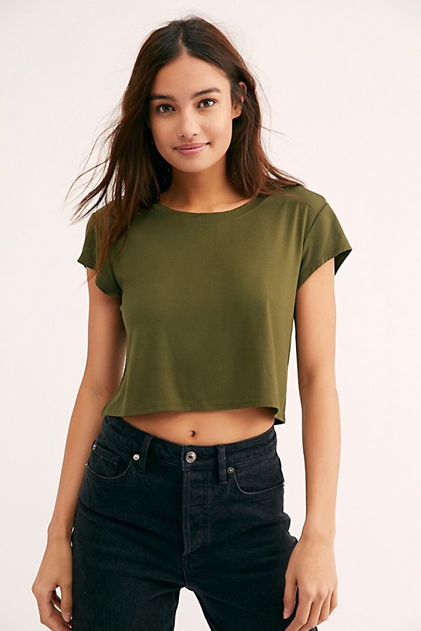 Slide View 1: Cropped Baby Bamboo Tee