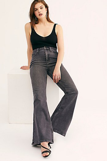 CRVY Robin High-Rise Flare Jeans
