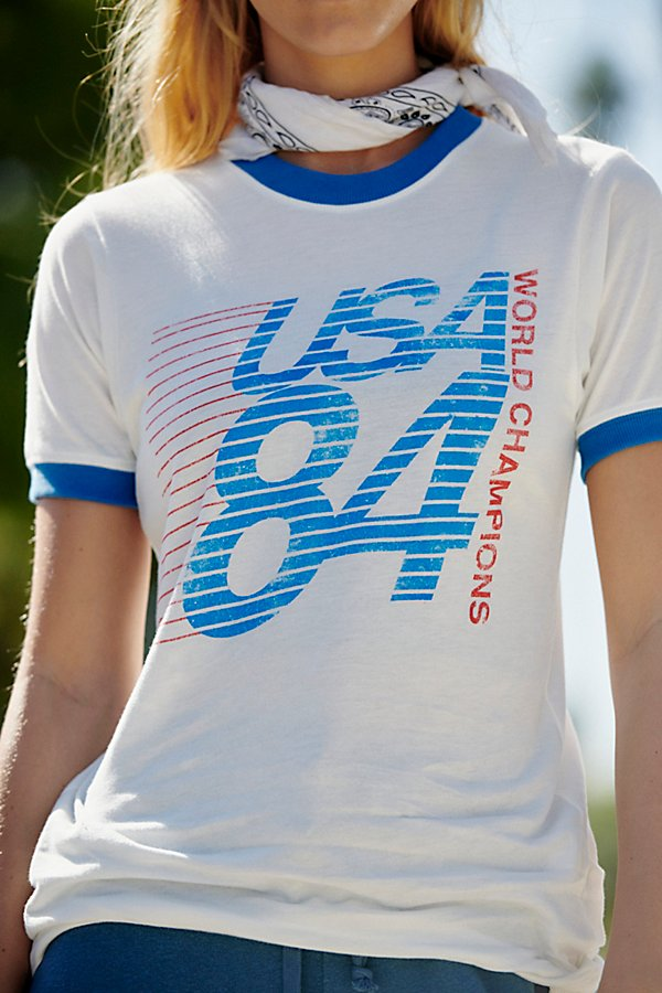 Slide View 4: USA World Champions Ringer Tee