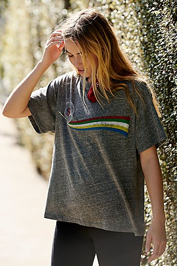 USA Rainbow Wave Tee