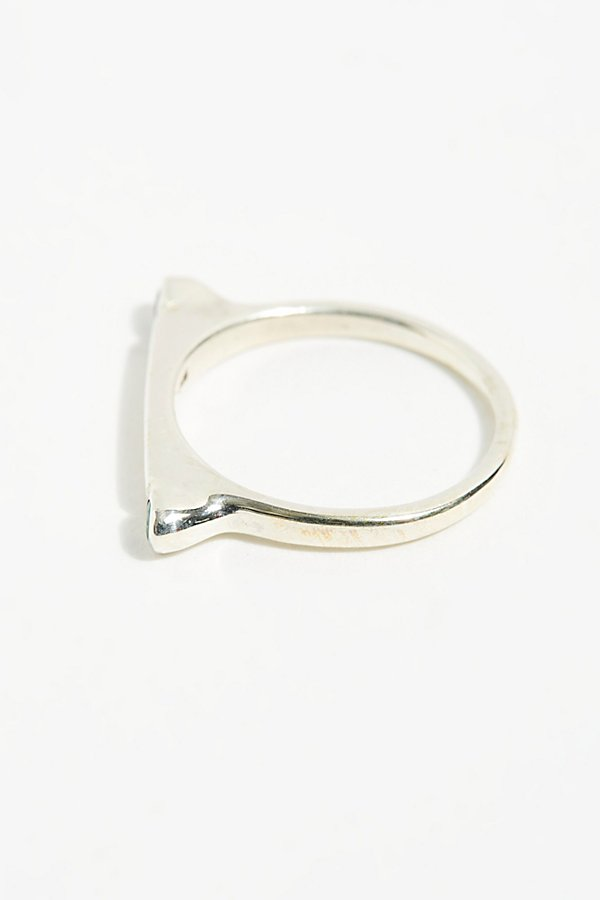 Slide View 2: Silver Bar Stack Ring