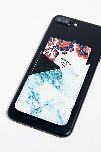 Printed Leather Phone Pocket