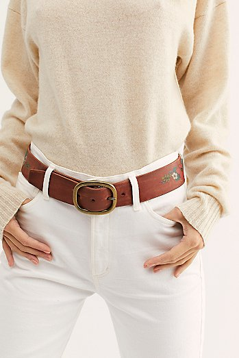Bosworth Floral Leather Belt