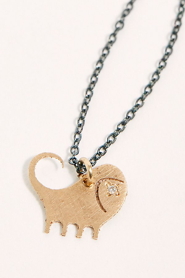 Slide View 1: 14k Diamond Chinese Zodiac Charm Necklace