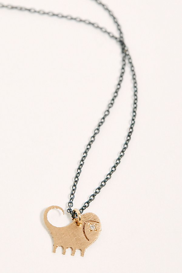 Slide View 2: 14k Diamond Chinese Zodiac Charm Necklace