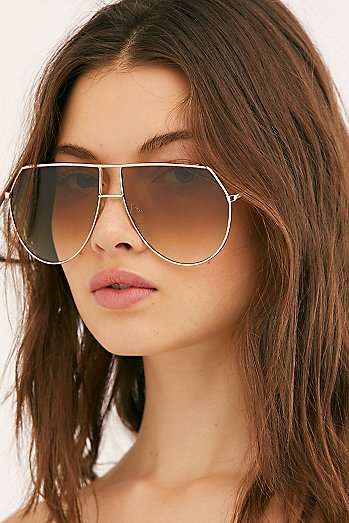 Emmanuelle Oversized Aviator Sunglasses