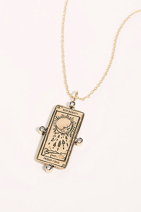 Slide View 1: The Moon Tarot Card Necklace