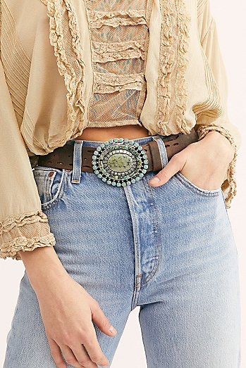 Dakota Sunshine Leather Belt